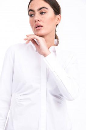 Taillierte Bluse in Weiß