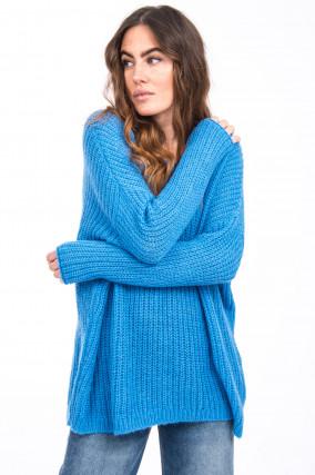 Strickpullover in Blau