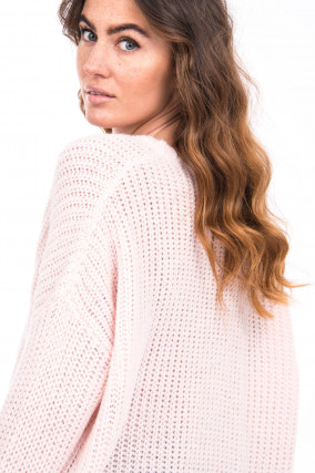 Strickpullover in Rosa