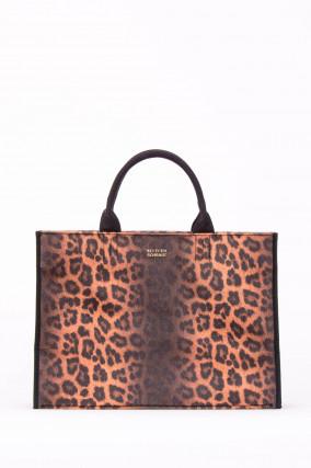 Shopper TYRA mitt Leo-Print