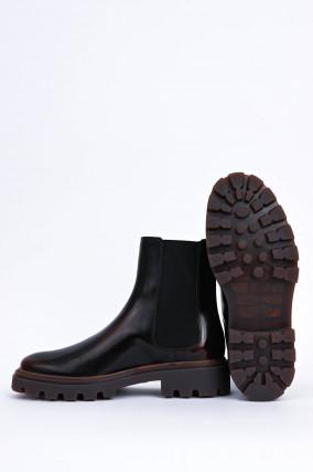 Chelsea-Boots in Mahagoni
