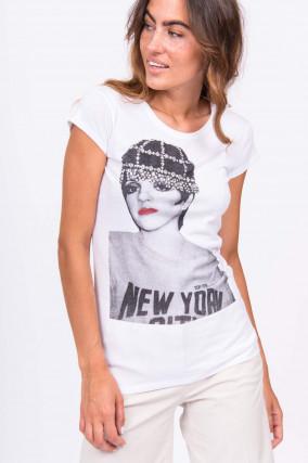 T-Shirt LIZA MINNELLI in Weiß