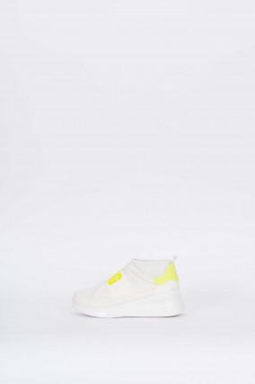 Sneaker NEUTRA NEON in Weiß/Neongelb