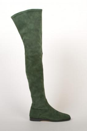 Overknee - Stiefel in Grün