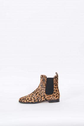 Chelsea Boots mit Leoprint