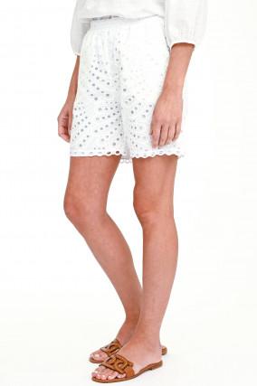 Shorts SOHO mit Lochstick in Weiß
