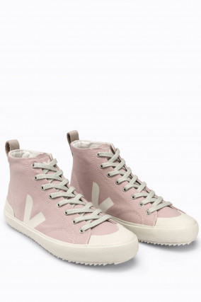 Canvas-High-Top-Sneaker NOVA in Rosa/Weiß