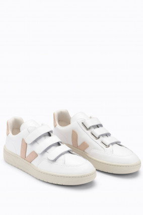 Sneaker V-LOCK mit Klettverschluss in Weiß/Beige