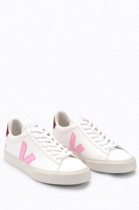 Nachhaltiger Sneaker CAMPO in Weiß/Rosa/Rost