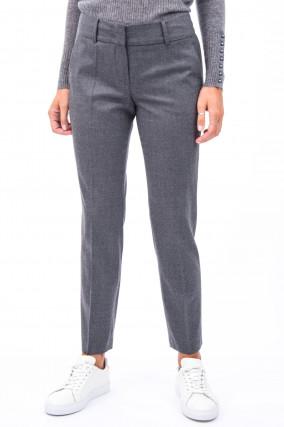 Hose aus Schurwolle in Grau meliert