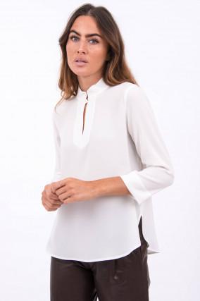 Bluse mit 3/4 Ärmel in Weiß