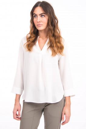 Blusenshirt mit 3/4-Arm in Weiß