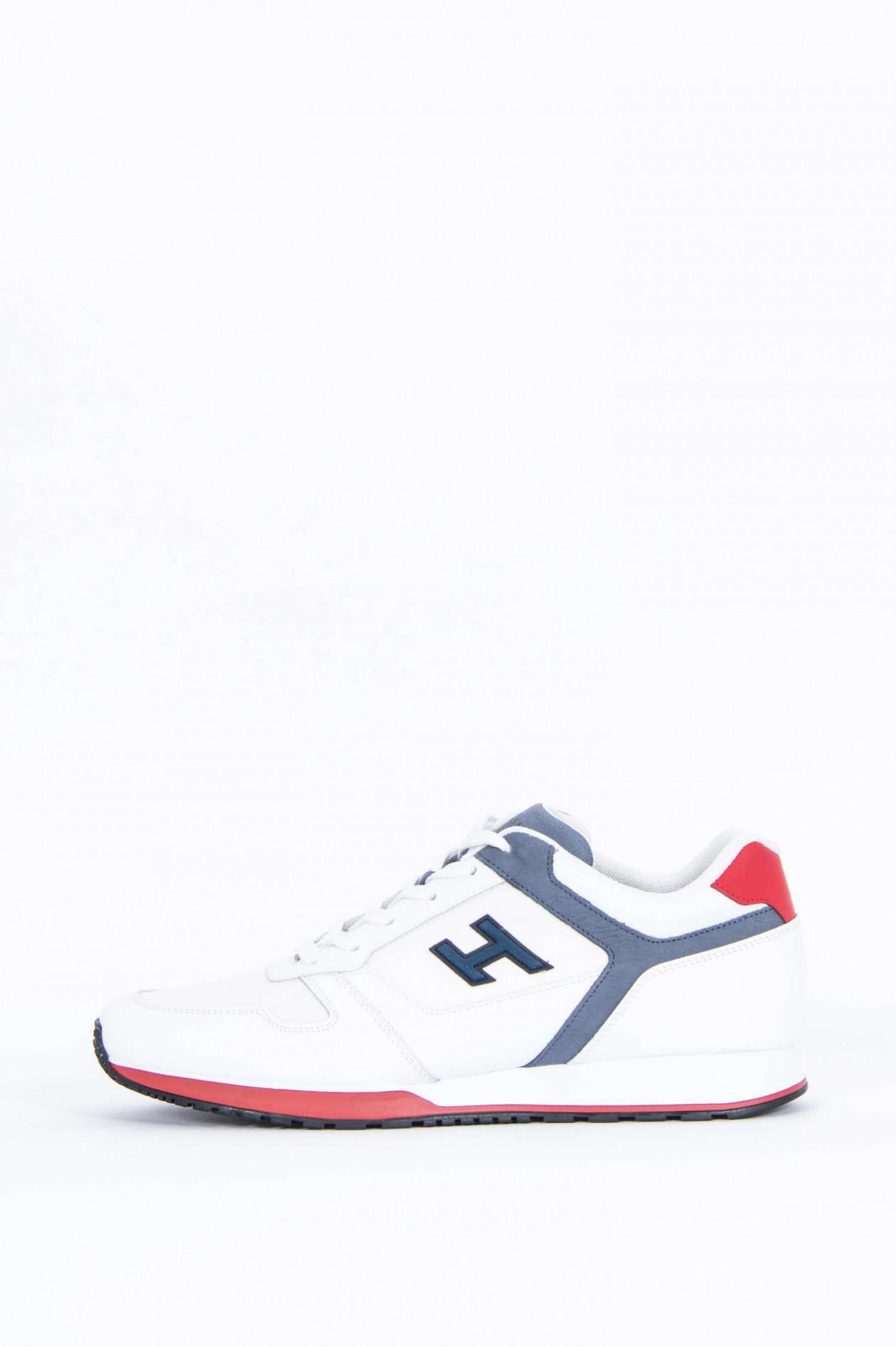 Sneaker H321 mit Lederdetails in WeißGrauRot