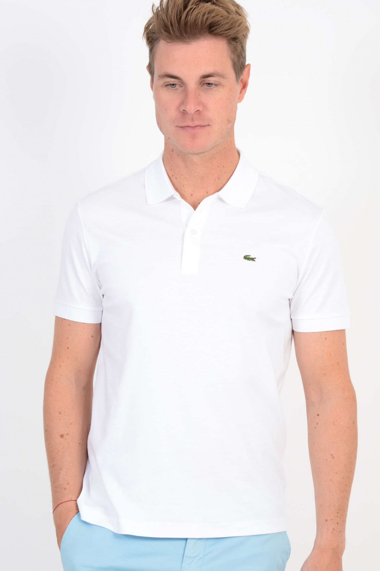 huge selection of 028f6 fa3f6 Jersey Poloshirt in Weiß