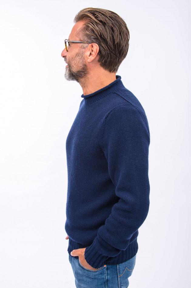 04651/ Pullover aus reinem Kaschmir in Navy