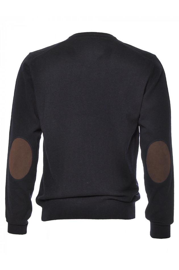 gr ner online shop hackett london pullover marine mit patch. Black Bedroom Furniture Sets. Home Design Ideas
