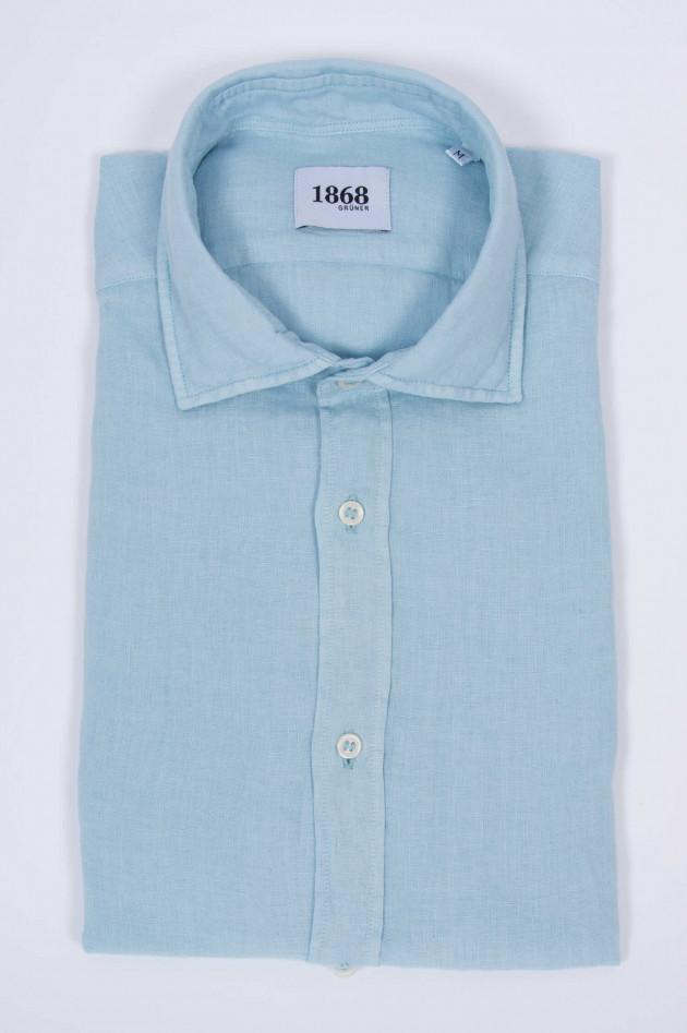1868 Leinenhemd in Hellblau