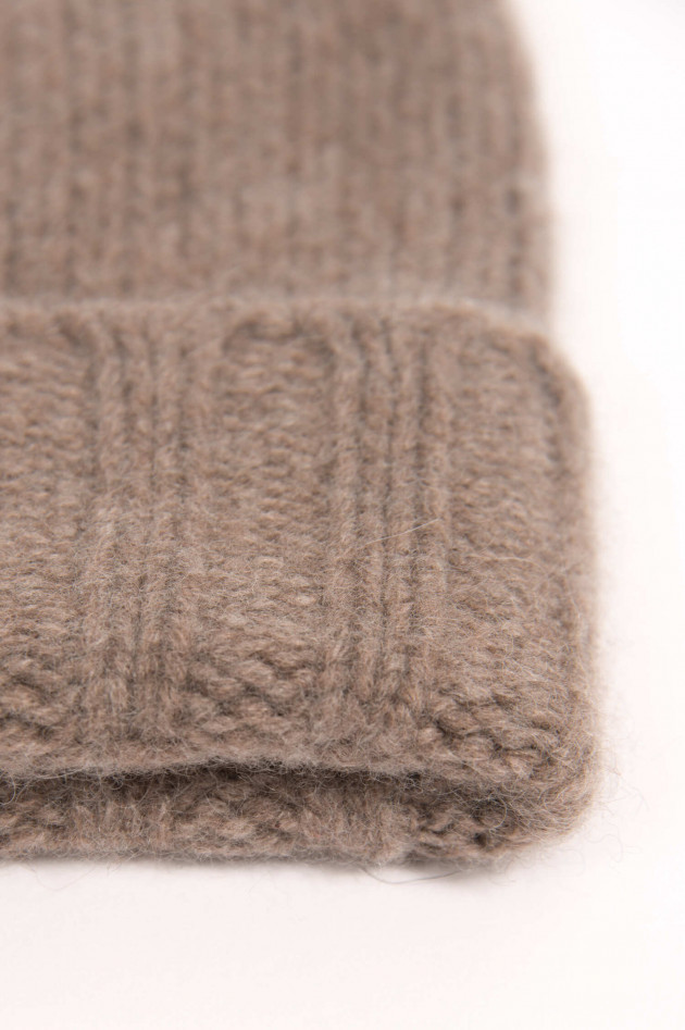 1868 Cashmere Mütze in Taupe