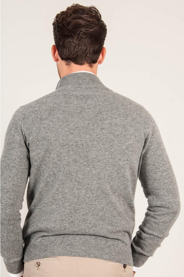 1868 Zipp - Pullover in Grau