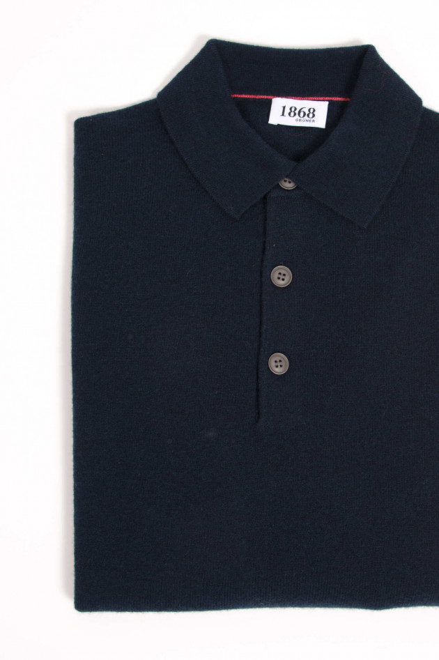 1868 Cashmere Strickpolo in Navy