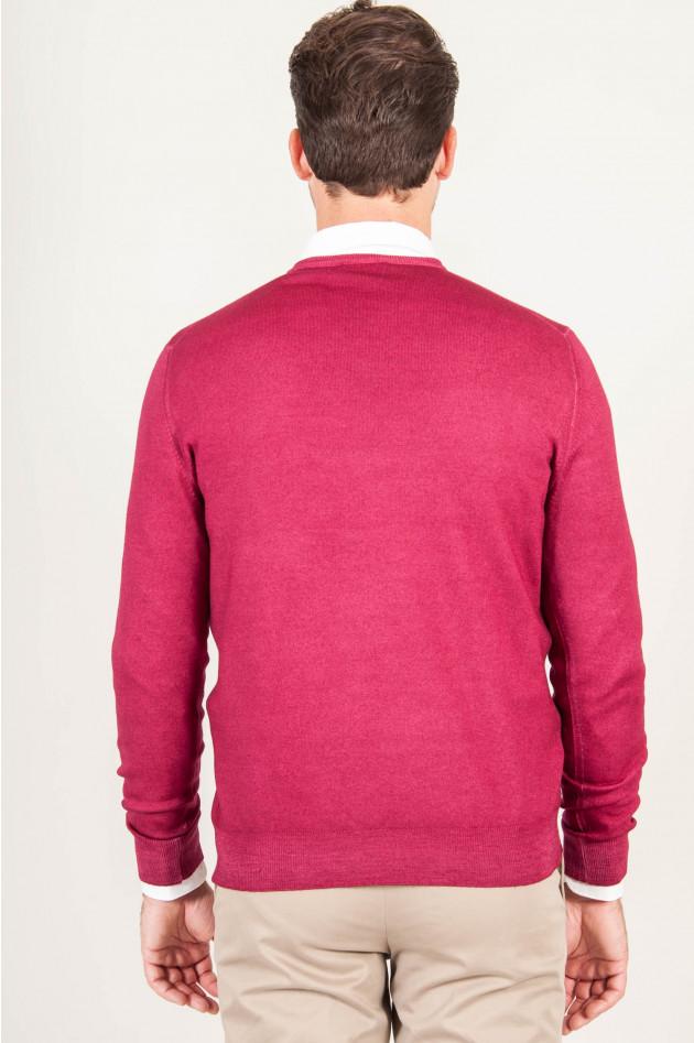 1868 V - Pullover Rot