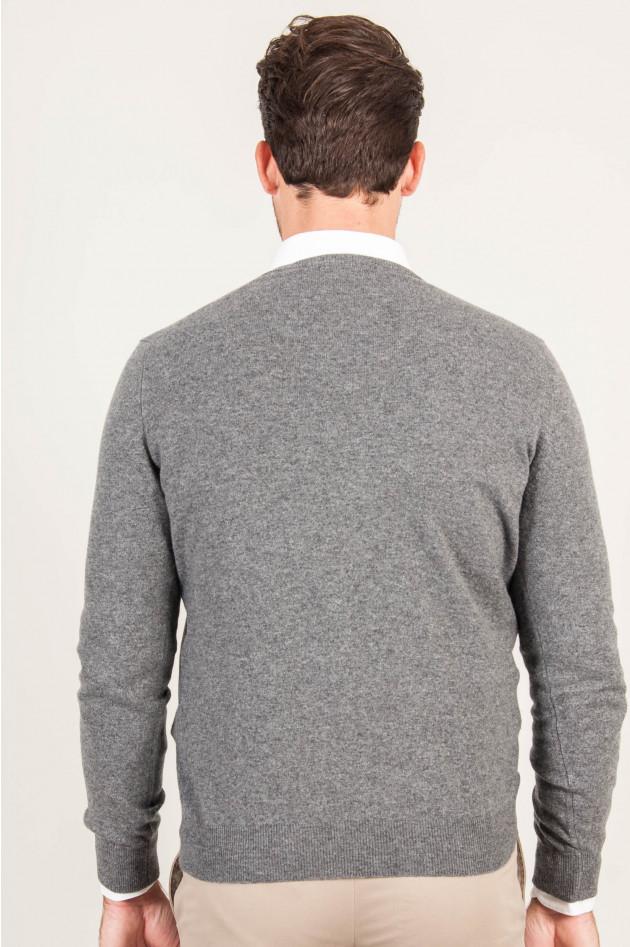1868 V - Pullover aus Cashmere in Grau