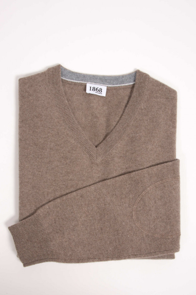 1868 Cashmere Pullover in Taupe