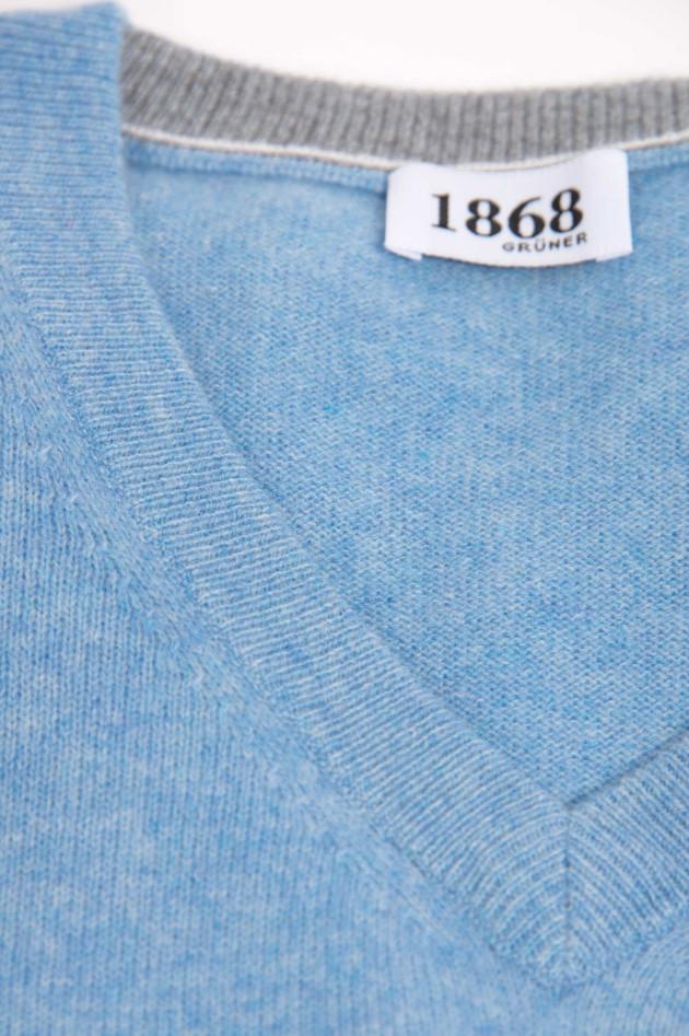 1868 Cashmere Pullover in Hellblau