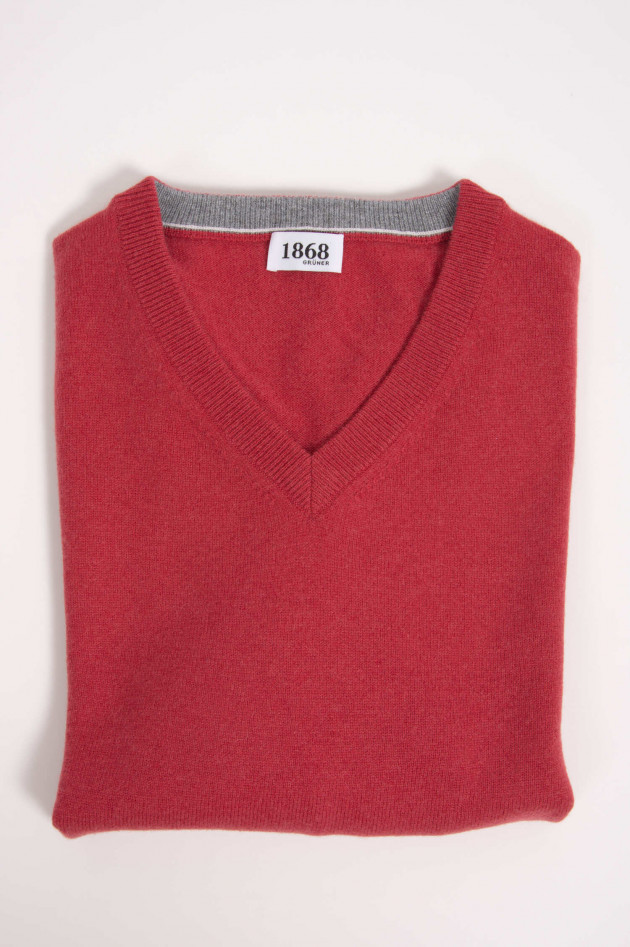 1868 Cashmere Pullover in Rot