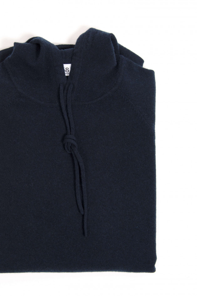 1868 Cashmere Hoodie in Navy