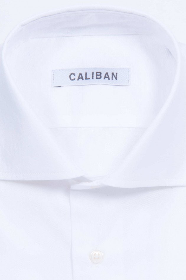 Caliban Hemd mit Haifischkragen in Weiß