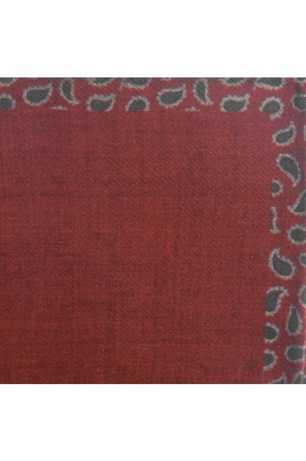 Pelo Einstecktuch in Rot gemustert