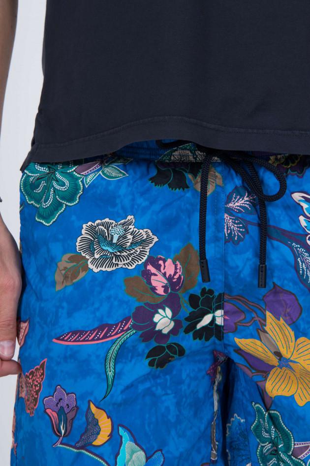 Etro Badehose mit Blumenprint in Blau