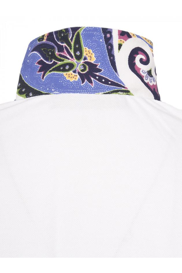 Grüner Online Shop: Etro Poloshirt in Weiß