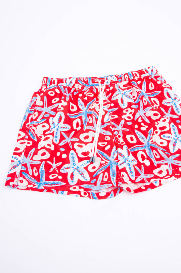 Fedeli Badehose MALEDIVE AIRSTOP STAMPATO in Rot