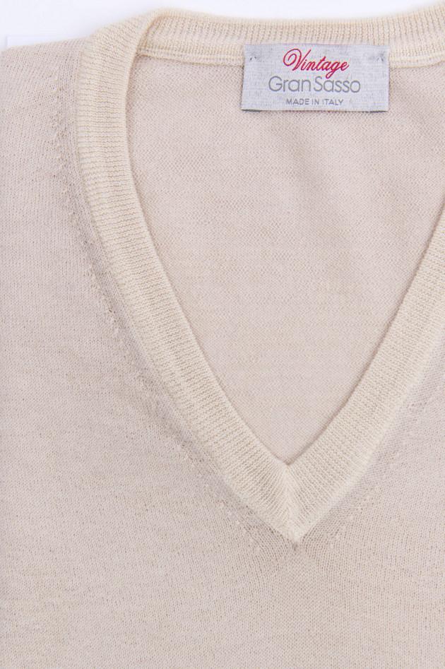Gran Sasso Schurwolle Pullover in Beige