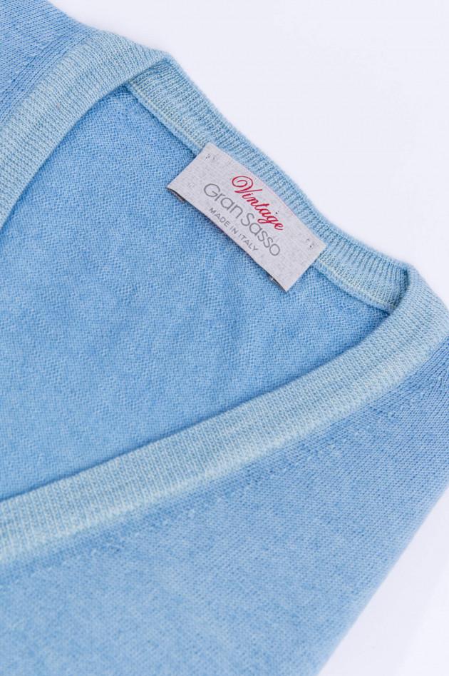 Gran Sasso Schurwolle Pullover in Himmelblau