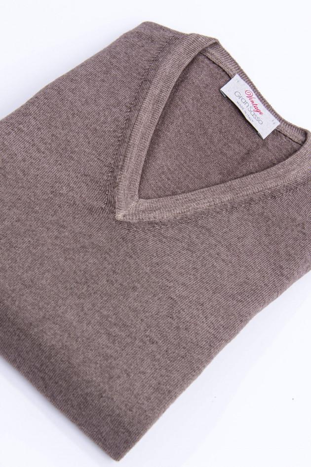 Gran Sasso Schurwolle Pullover in Taupe