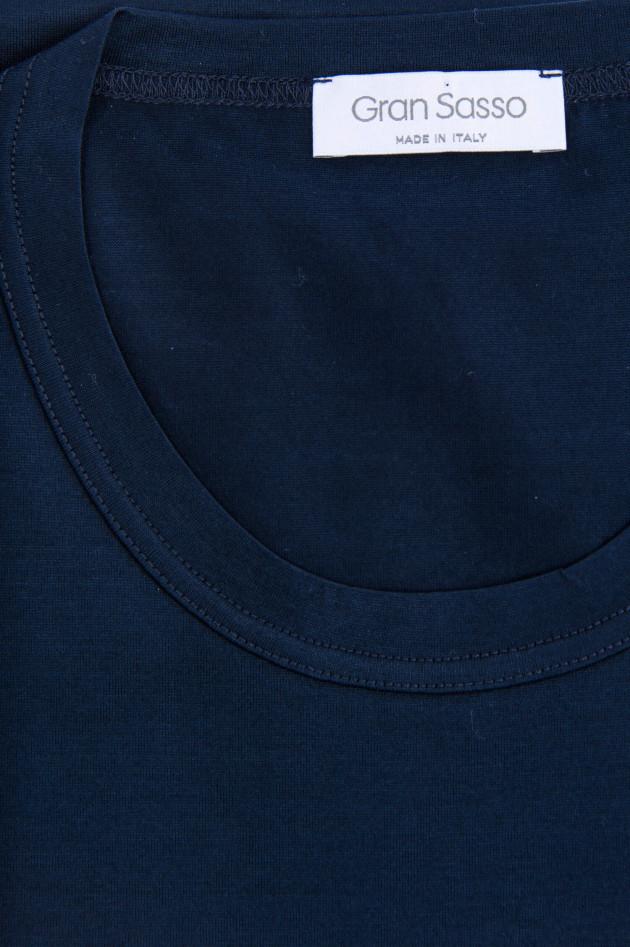 Gran Sasso Jersey Kurzarm-Shirt in Midnight