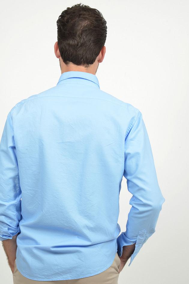 Grüner Oxford - Hemd in Hellblau