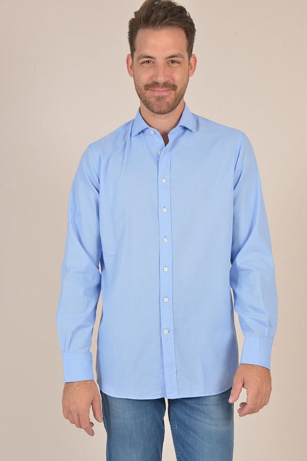 Hackett London Hemd aus Baumwolle in Hellblau
