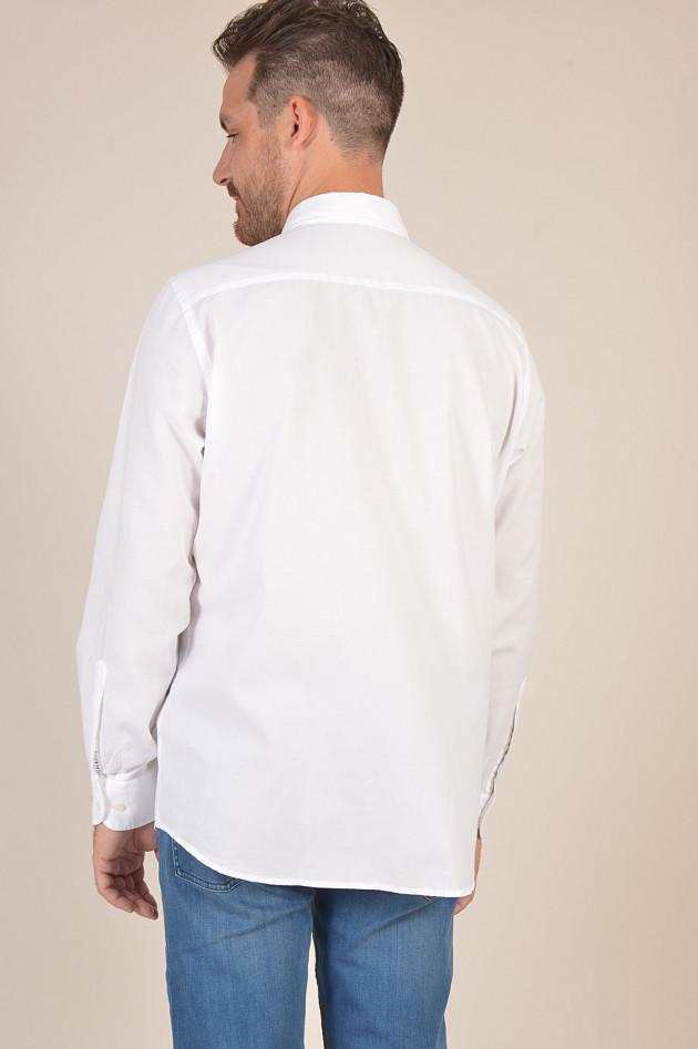 Hackett London Hemd aus Baumwolle in Weiß