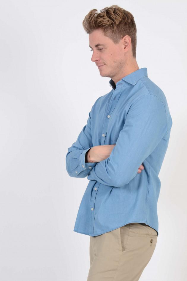 Hackett London Jeanshemd in Blau