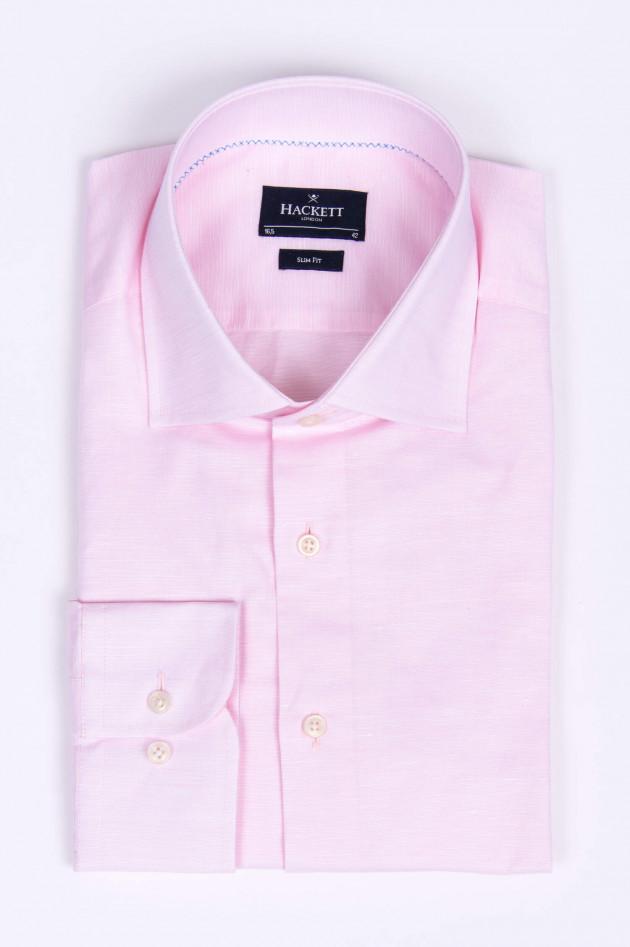 Hackett London Leinenmix-Hemd in Rosa