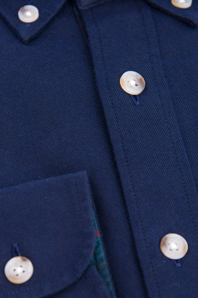 Hackett London Baumwollhemd in Navy