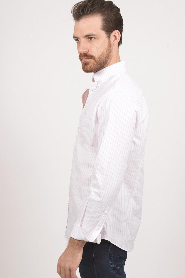 Hackett London Hemd aus Baumwolle in Rot/Weiß