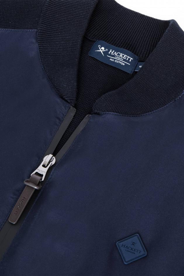 Hackett London Jacke aus Material-Mix in Navy