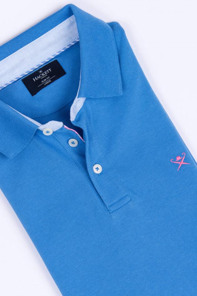 Hackett London Polo-Shirt in Hellblau