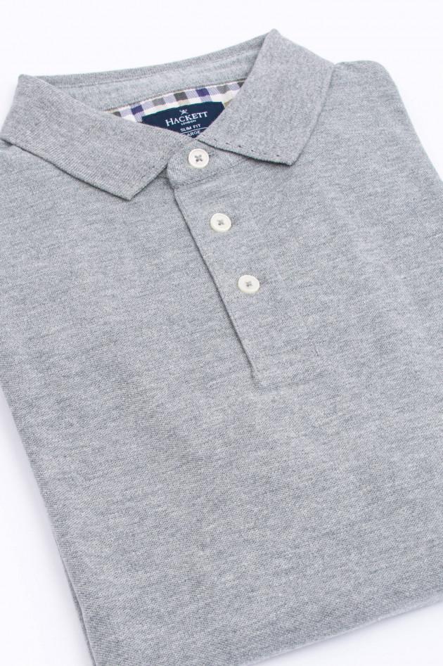 Hackett London Polo-Shirt aus Baumwolle in Grau