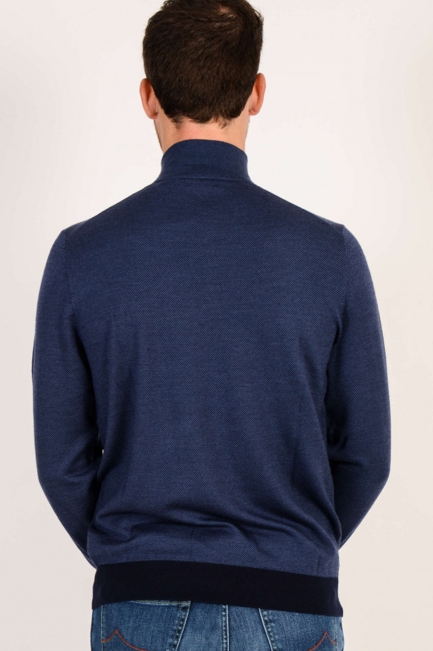 Hackett London Strickweste in Navy
